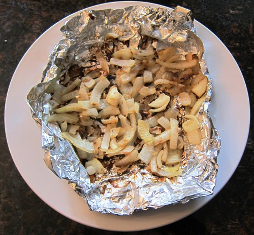 grilled sliced onions recipe in foil