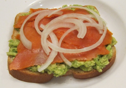 making a lox sandwich