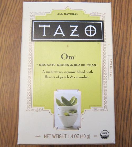 tazo om green and black tea