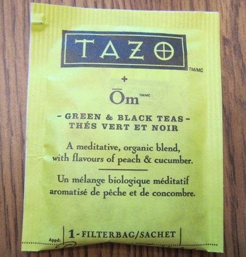 tazo om green tea teabag