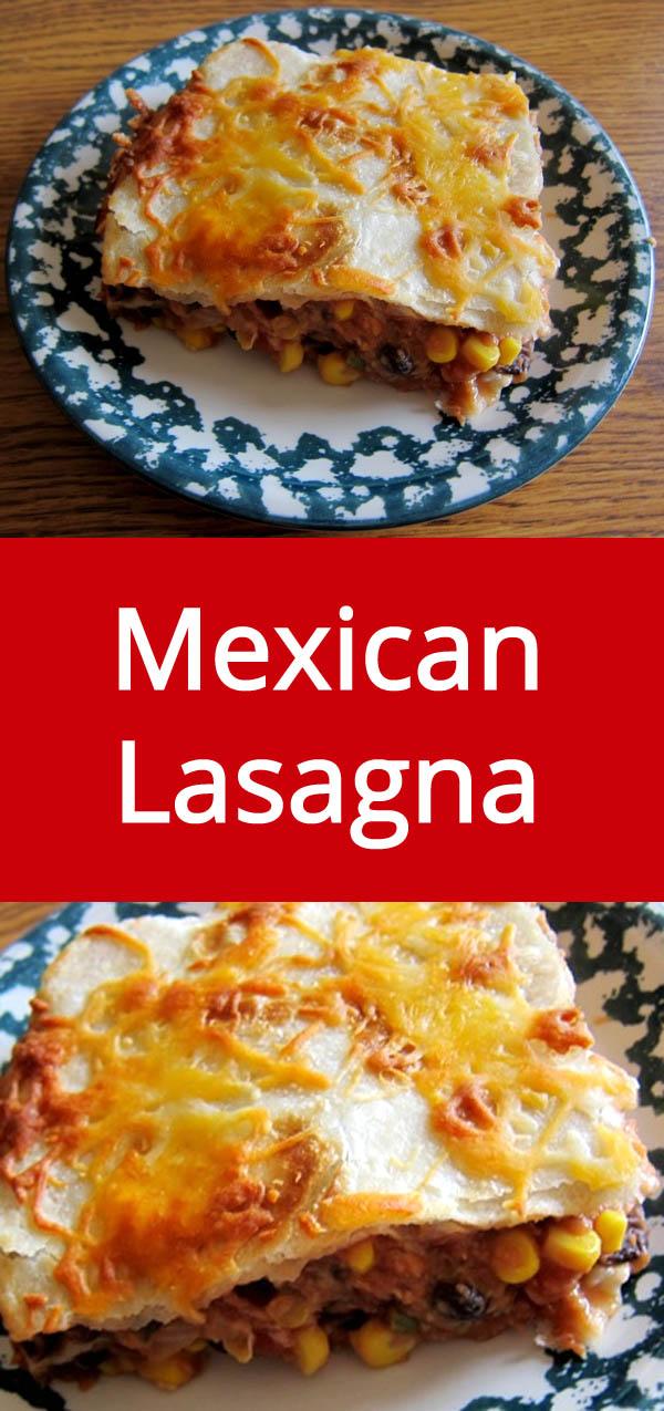 Mexican Vegetarian Lasagna Recipe | MelanieCooks.com