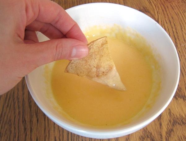 nacho cheese sauce chip dip