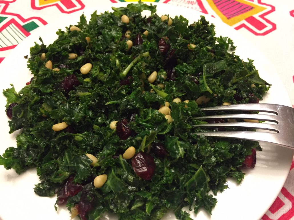 Cranberry Pine Nuts Kale Salad