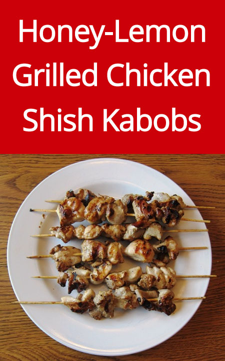 Grilled Chicken Shish Kabobs Recipe (from MelanieCooks.com)