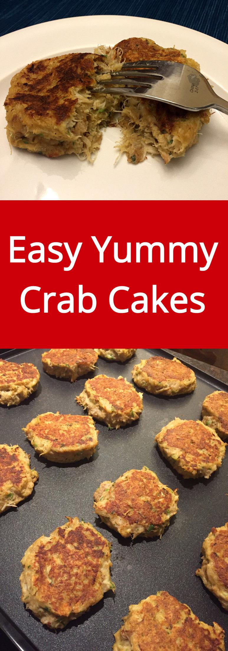 Easy Homemade Crab Cakes Recipe - so delicious, I love crab cakes! | MelanieCooks.com