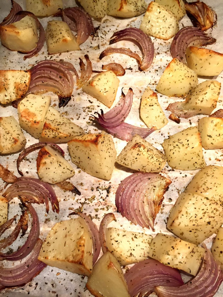 Roasted Potatoes With Onions Recipe