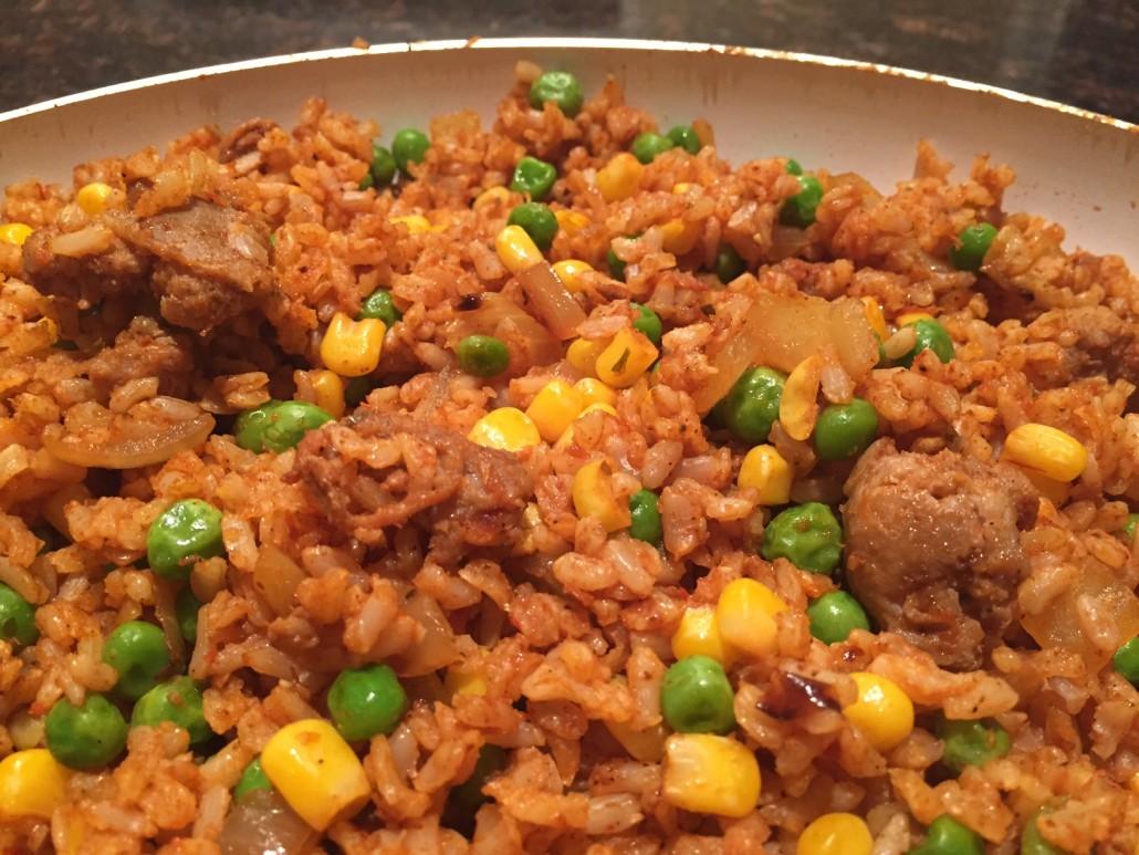 Sausage Vegetable Rice Jambalaya Stir Fry