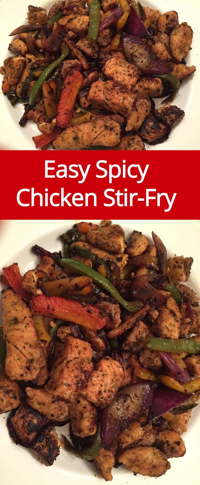 Easy Spicy Chicken Stir-Fry Recipe | MelanieCooks.com