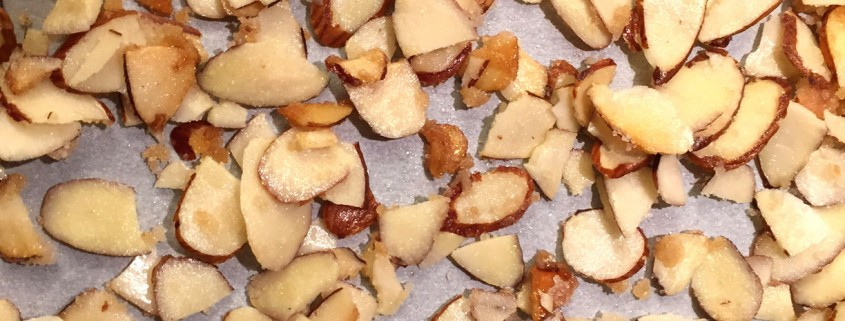 Toasted Sugared Caramelized Slivered Almonds