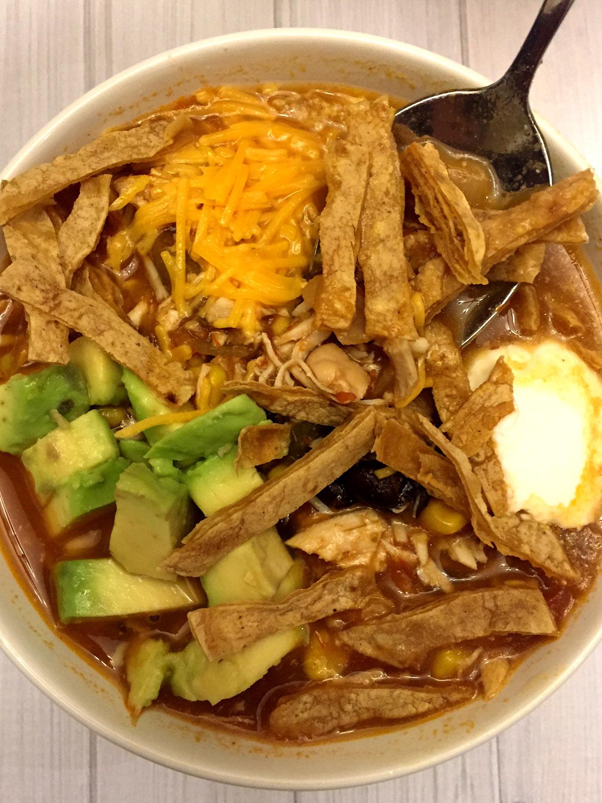 Easy Mexican Chicken Tortilla Soup Crockpot Recipe