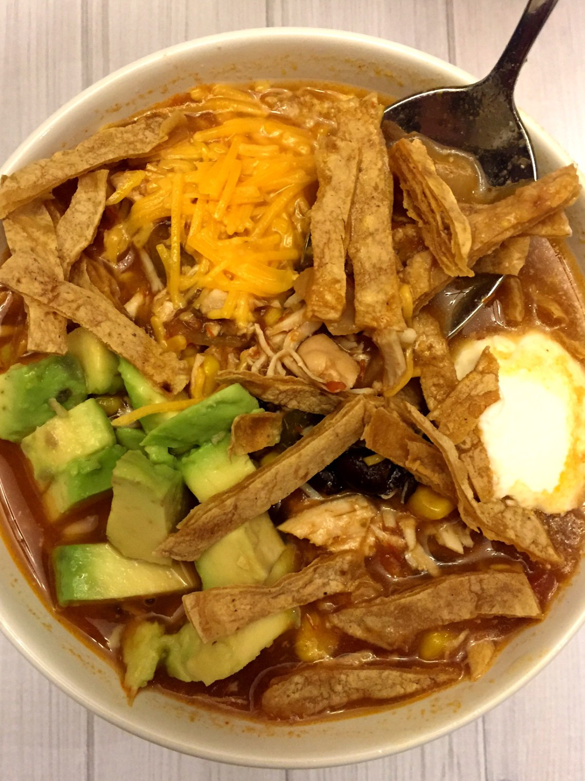 Easy Mexican Chicken Tortilla Soup Crock-Pot 5-Ingredient ...