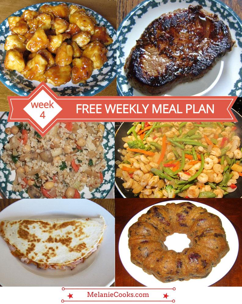 FREE Weekly Meal Plan - Week 4 Menu