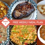 FREE Weekly Meal Plan - Menu For Week 4