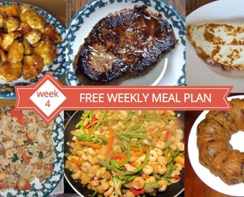 FREE Weekly Meal Plan - Menu For Week 4