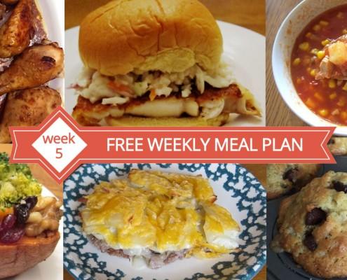 Free Weekly Meal Plan - Menu For Week 5