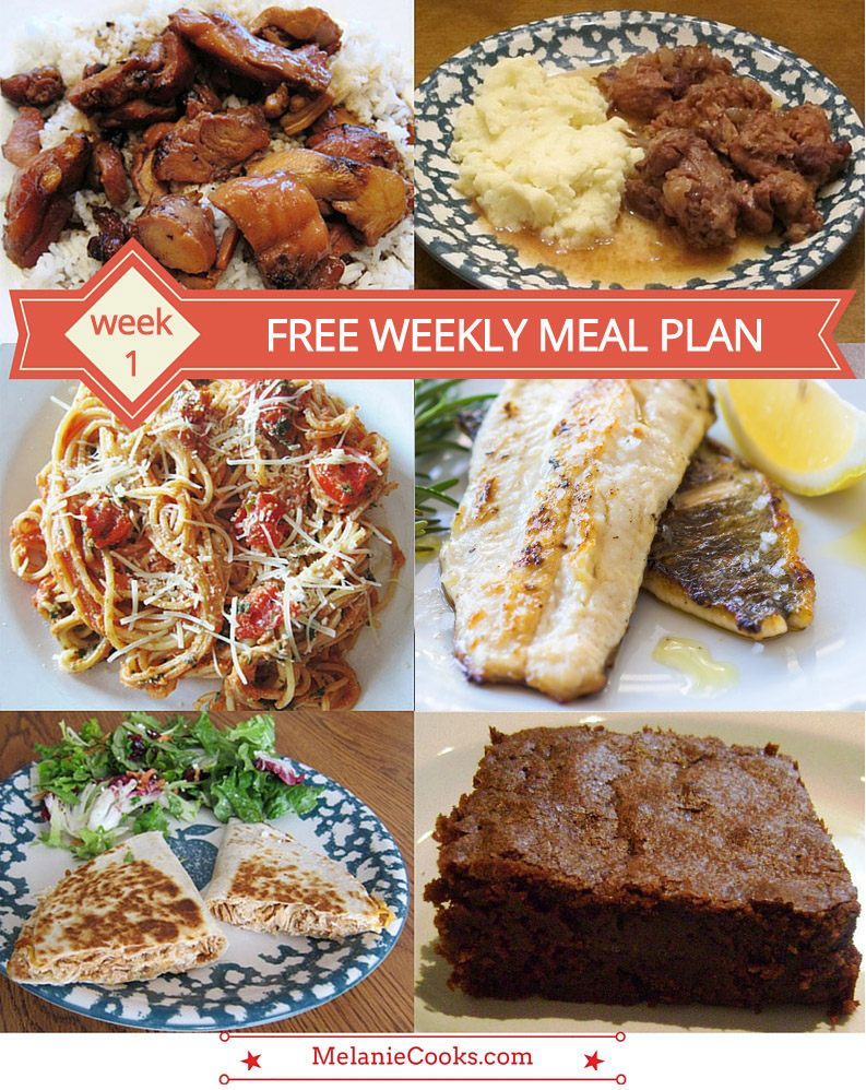 free weekly meal plans and dinner ideas