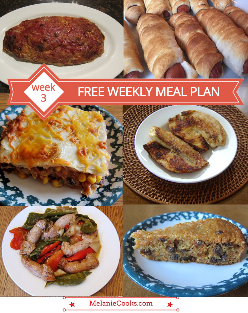 Free Weekly Meal Plan - Week 3 Menu