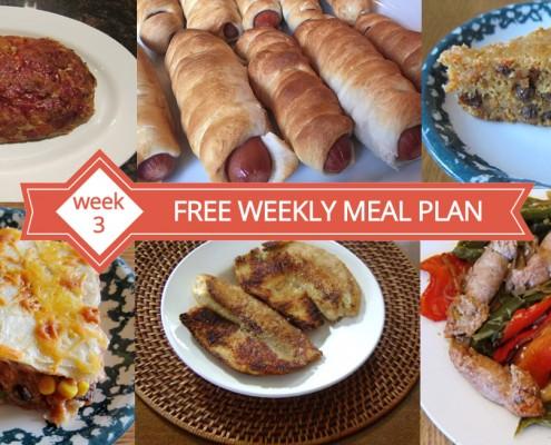 Free Weekly Meal Plans - Menu For Week 3