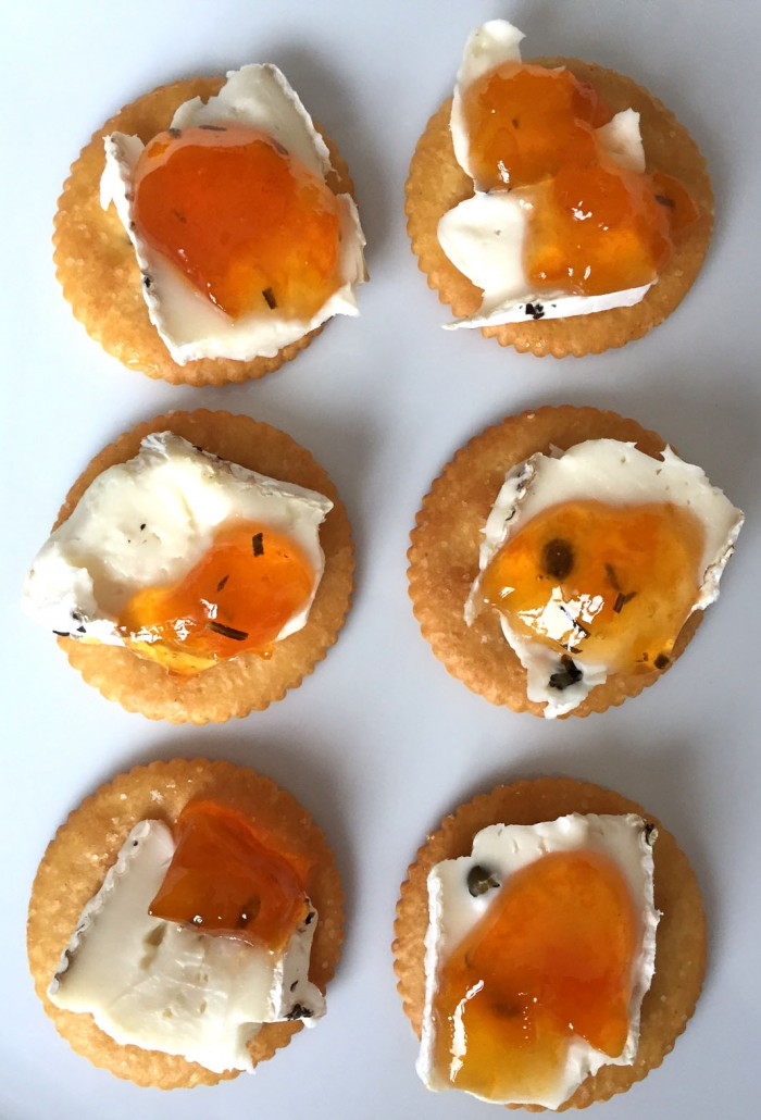 Brie Cheese And Jam Appetizer Cracker Bites Recipe
