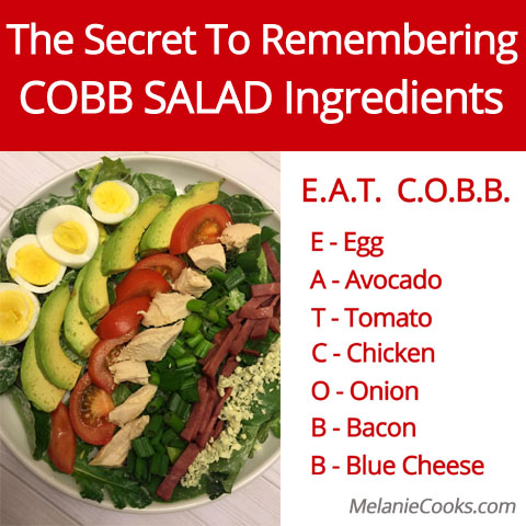 The Secret To Remembering Cobb Salad Ingredients