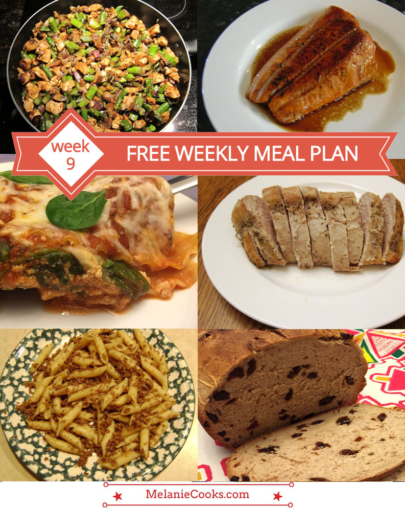 Free Weekly Meal Plan - What's For Dinner (Week 9)