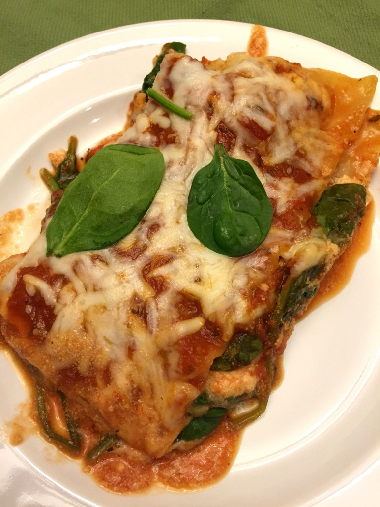 Quick And Easy Spinach Lasagna Using Only 5 Ingredients