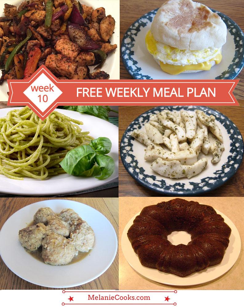 FREE Meal Plan - Week 10 Dinner Ideas
