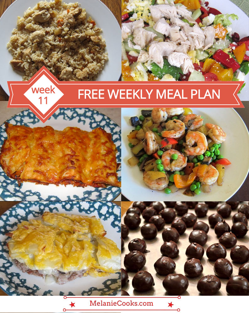 Free Weekly Meal Plan - Week 11