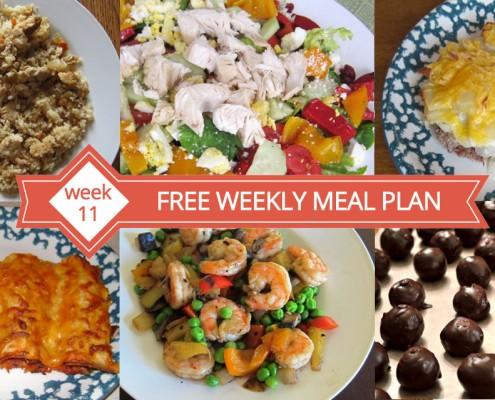 FREE Weekly Meal Plan - Week 11 Dinner Ideas