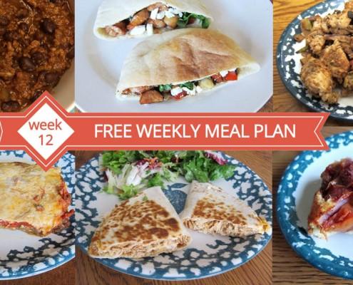 Free Weekly Meal Plans - Week 12