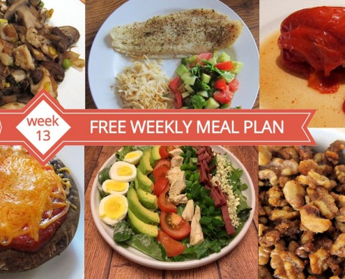 Free Weekly Menu Plan - Dinner Ideas Week 13
