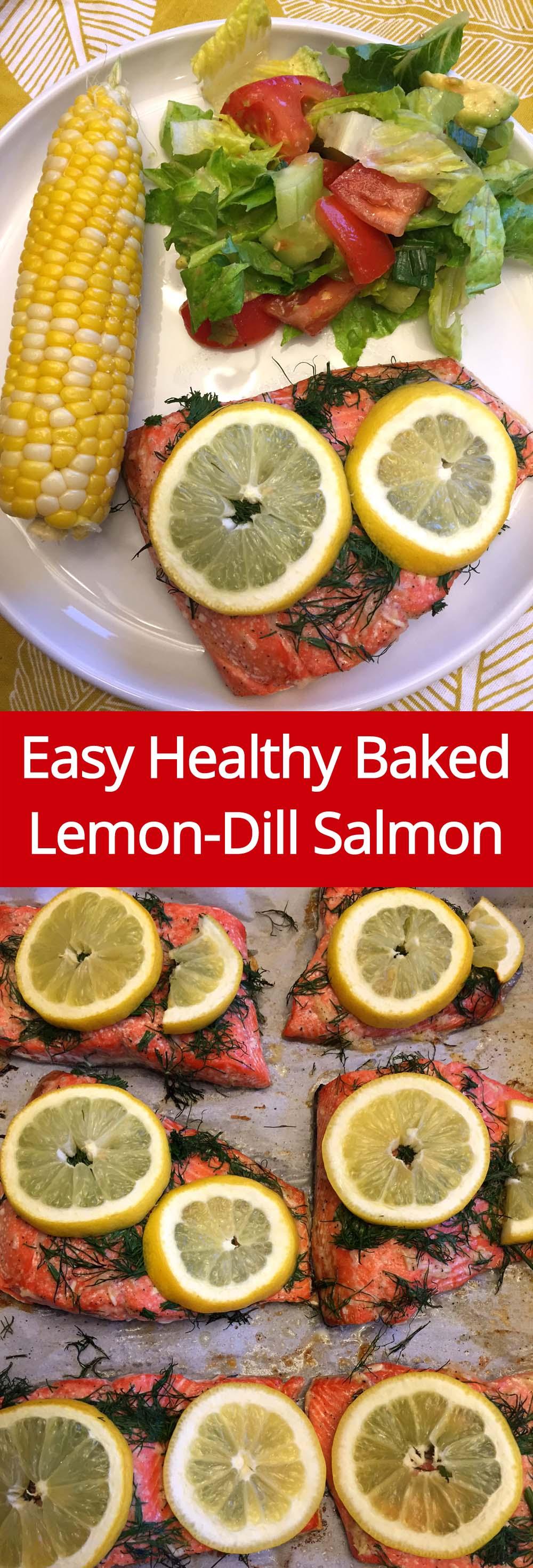 Easy & Healthy Baked Lemon-Dill Salmon - So Delicious!