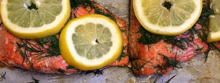 Baked Lemon Dill Salmon Recipe
