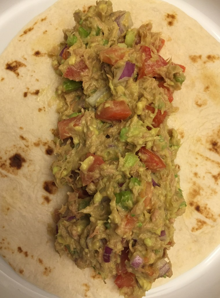 Tuna Avocado Salad Wrap