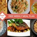 Free Weekly Menu Plan - Week 15