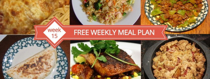 Free Weekly Menu Plan - Week 15