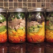 Chicken Mango Salad In A Mason Jar