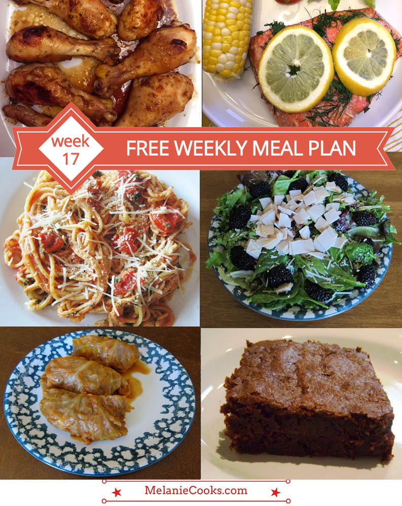 FREE Weekly Meal Plan (Week 17) - Easy Recipes And Dinner Ideas