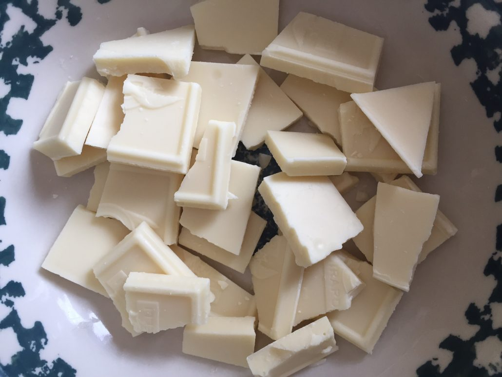 White Chocolate for 4th of July Dessert
