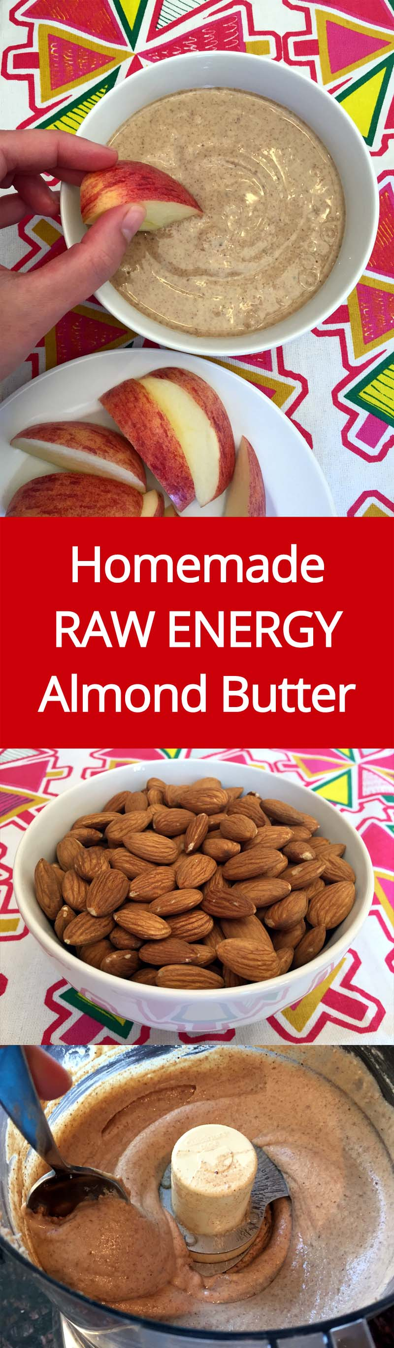 Homemade Almond Butter Recipe - How To Make Raw Organic Almond Butter With Your Food Processor!   MelanieCooks.com