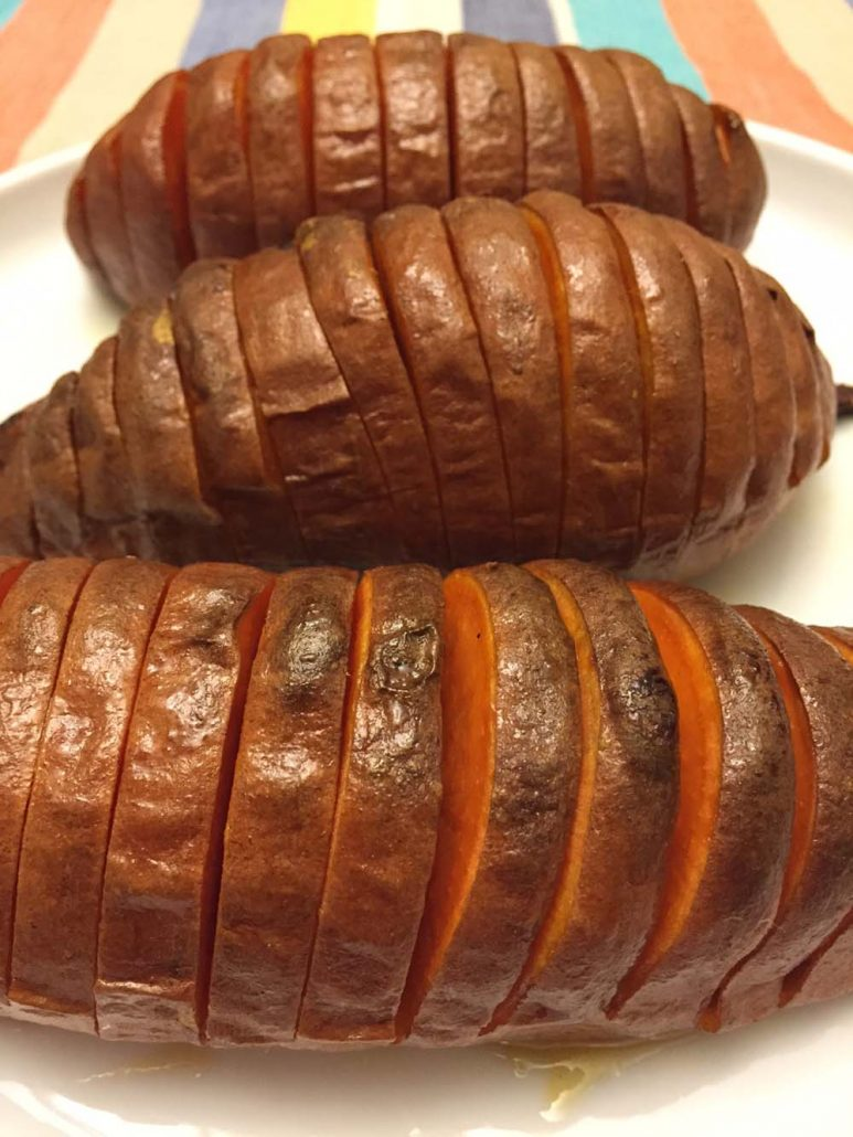 How To Make Hasselback Sweet Potatoes