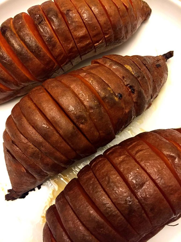 Hasselback Baked Sweet Potatoes Recipe