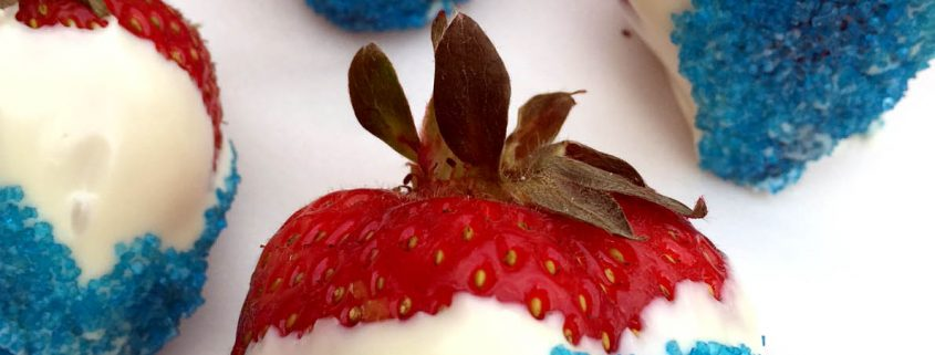 Red White And Blue Chocolate Covered Strawberries Recipe