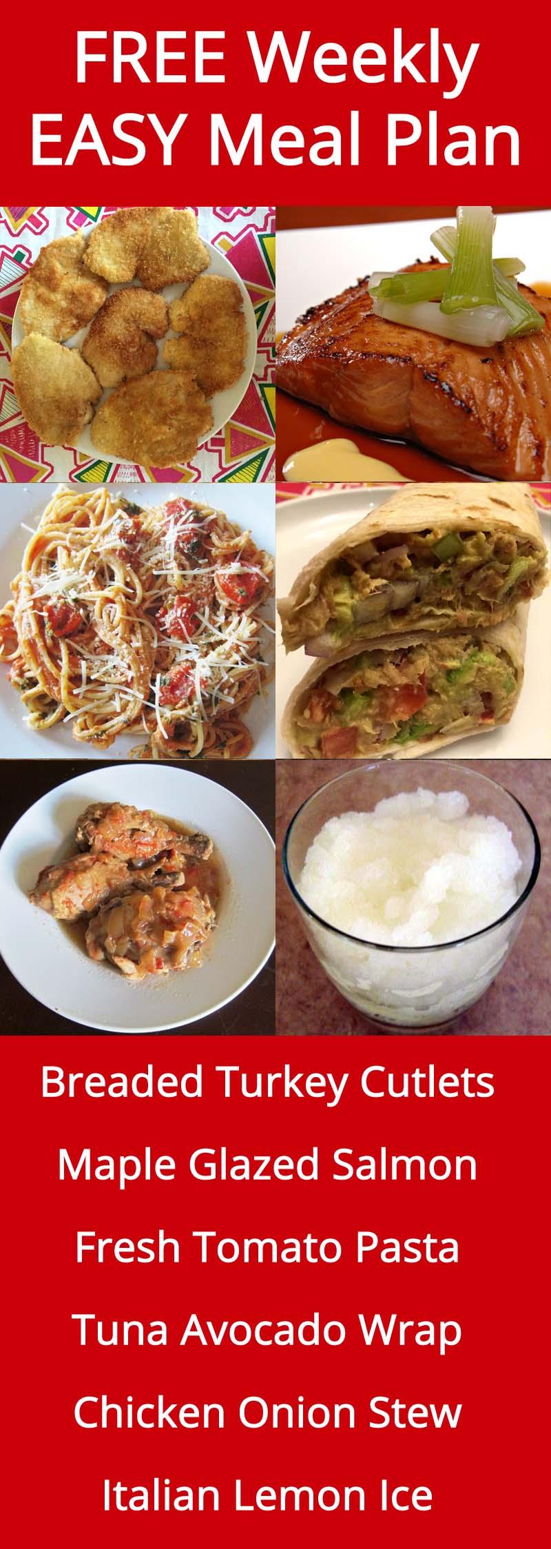 FREE Weekly Easy Family Meal Plan - Week 26 Recipes | MelanieCooks.com