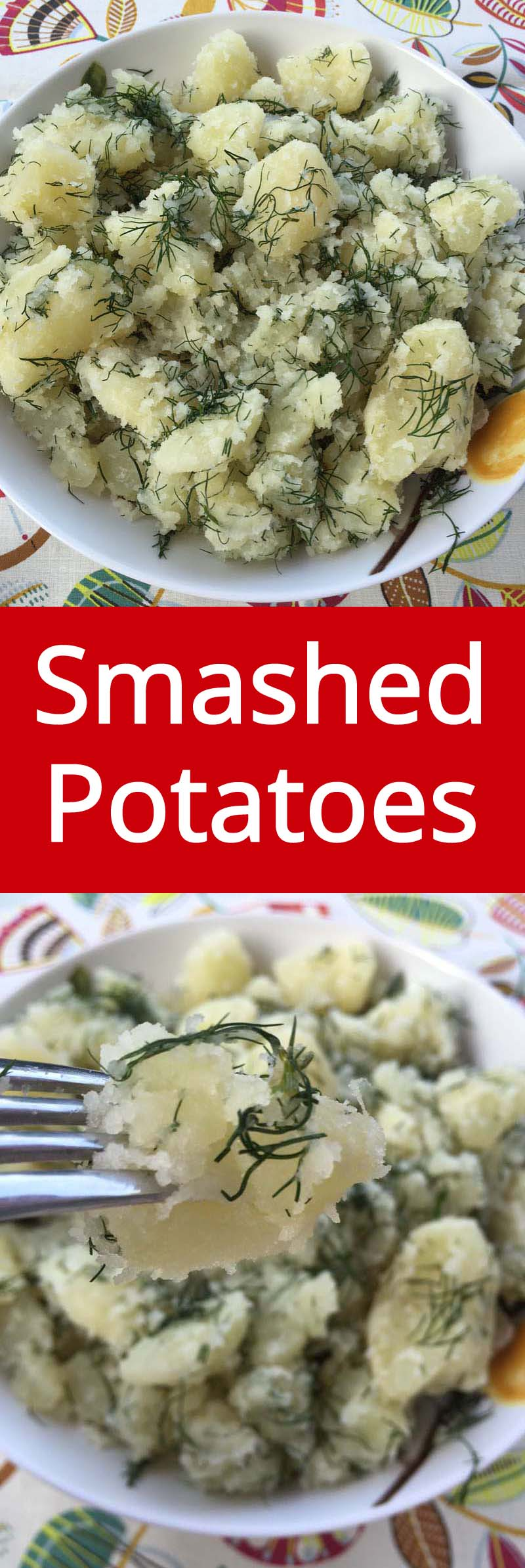 Easy Smashed Potatoes Recipe With Fresh Herbs - MOUTHWATERING! MelanieCooks.com