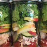Chicken Apple Mason Jar Salad