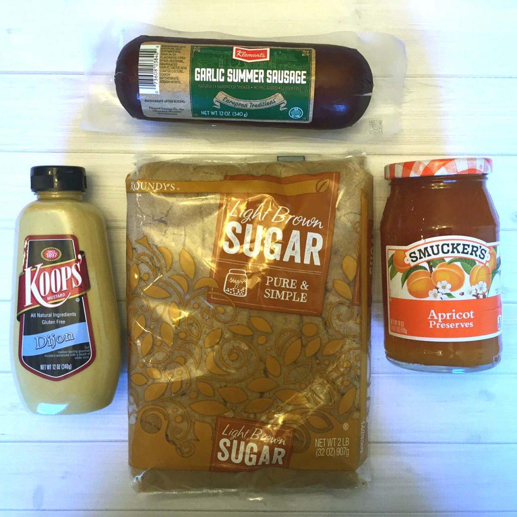 Glazed Summer Sausage Ingredients