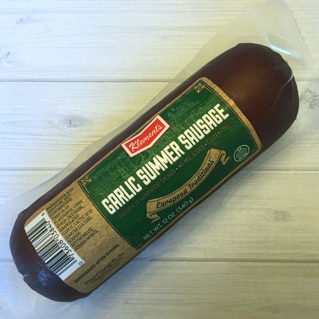 Klements Garlic Summer Sausage