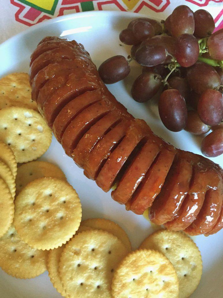 Glazed Baked Summer Sausage Recipe