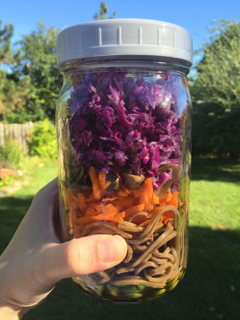 Vegan Soba Noodles Mason Jar Salad